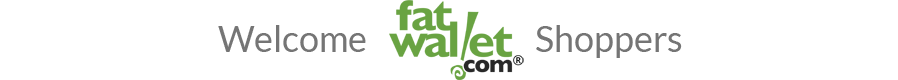 Welcome FatWallet Shoppers