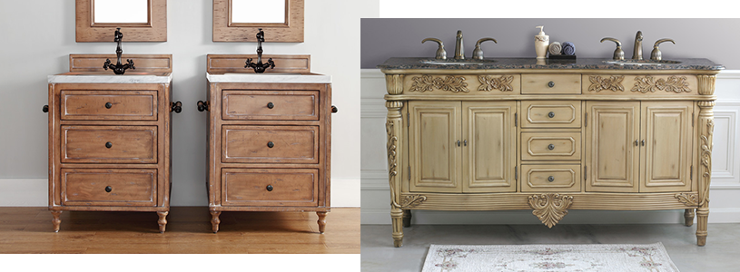 Antique Bathroom Vanities - Shop Antique Bathroom Vanity - Vintage, Rustic Vanities - Modern