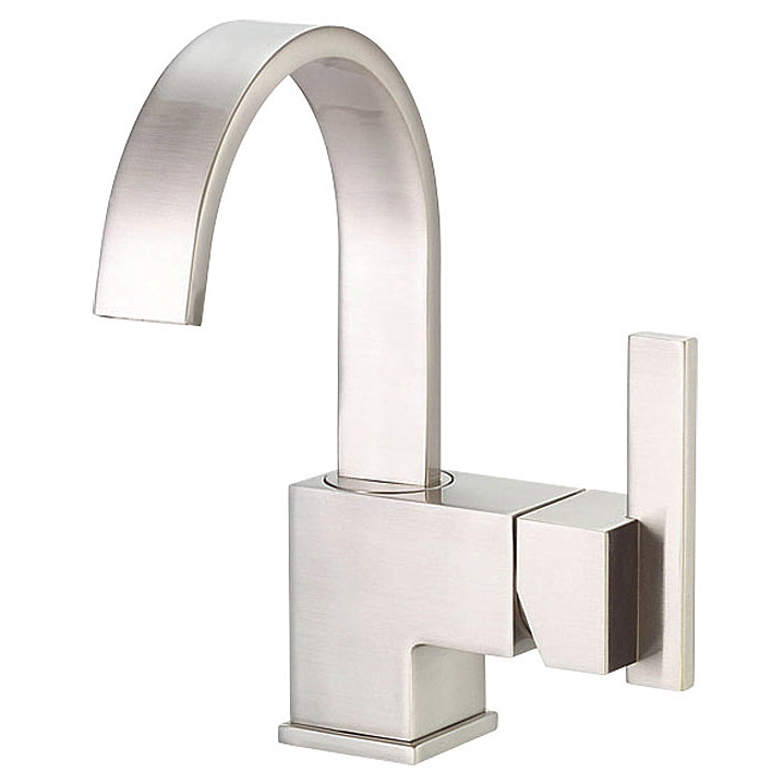 Danze sirius single handle lavatory faucet brushed nickel free shipping modern bathroom - Installing contemporary bathroom faucets ...