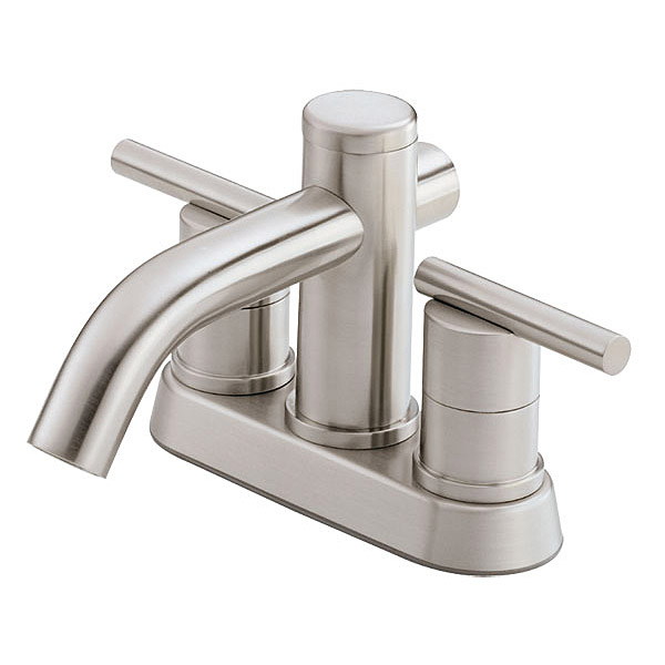 Danze Parma Two Handle Centerset Lavatory Faucet, Brushed Nickel D301158BN by Danze