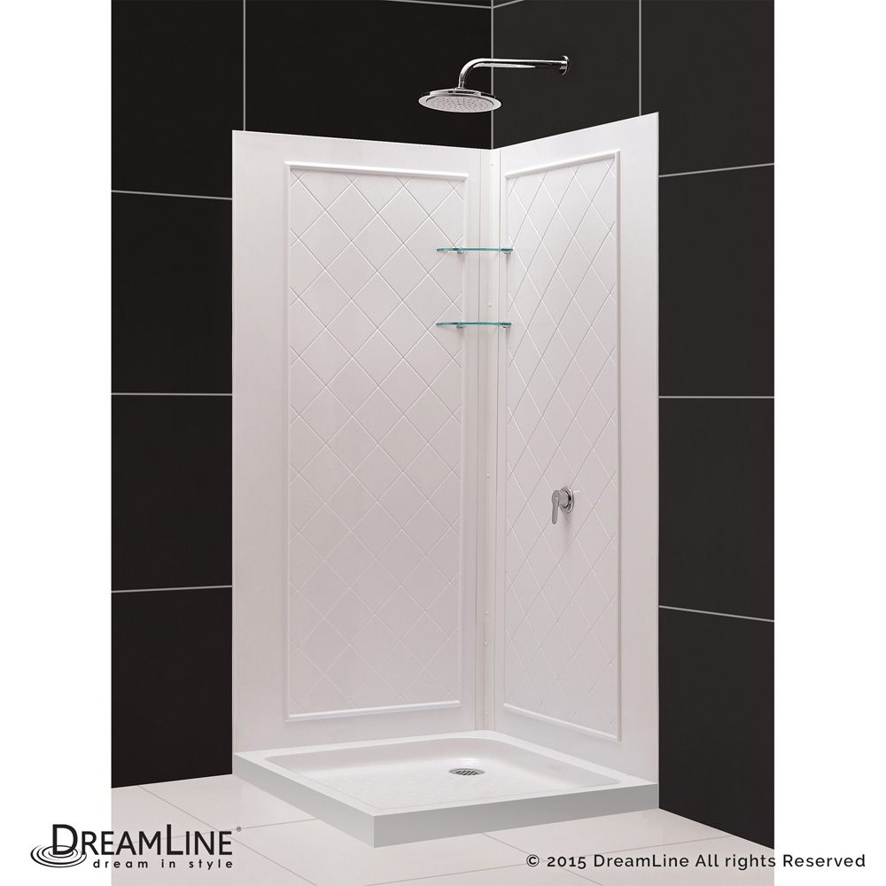 Bath Authority DreamLine Cornerview Framed Sliding Shower Enclosure ...
