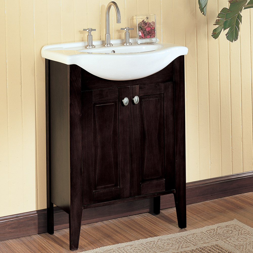 Fairmont designs 26 lifestyle collection bowtie vanity for Espresso bathroom ideas