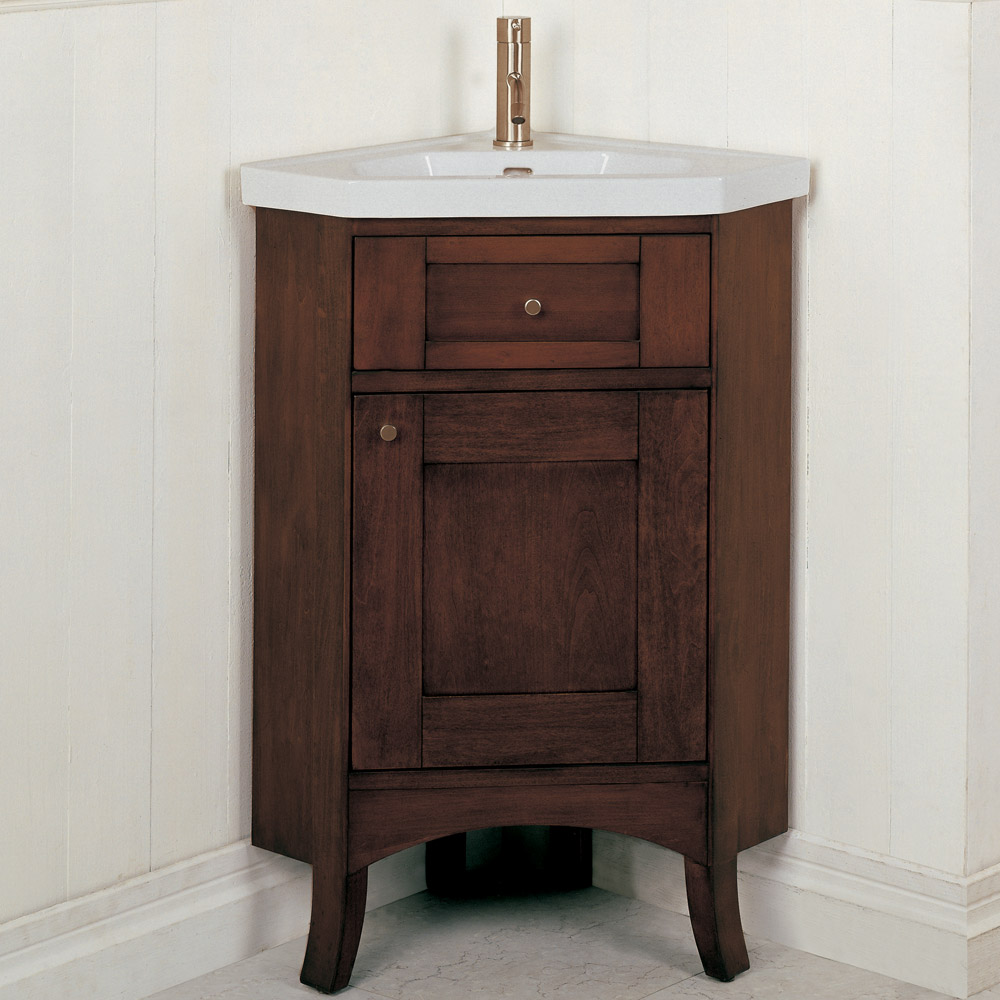 Fairmont Designs 26 Lifestyle Collection Shaker Corner Vanity Combo Dark Cherry Free