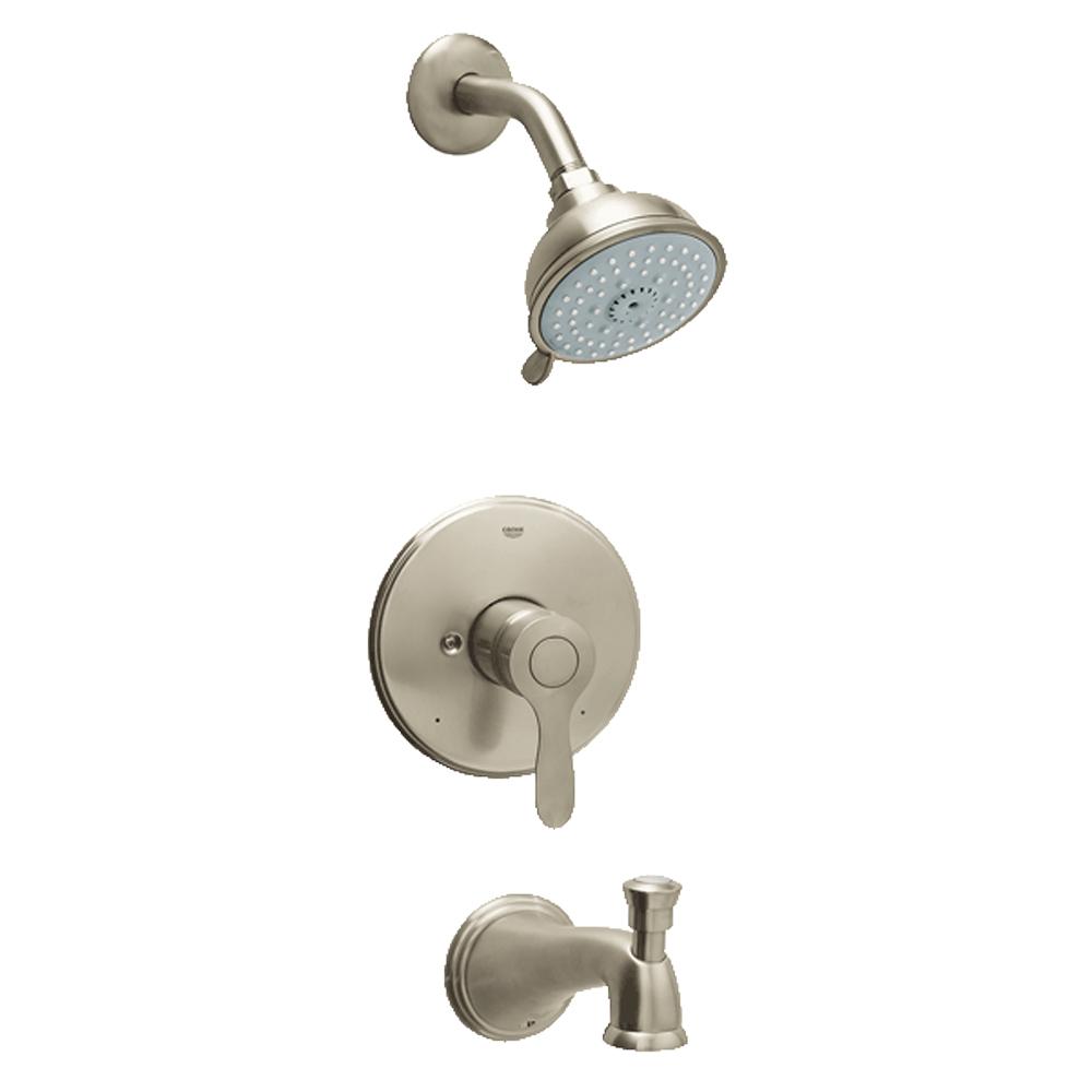 grohe parkfield pressure balance valve shower bath. Black Bedroom Furniture Sets. Home Design Ideas