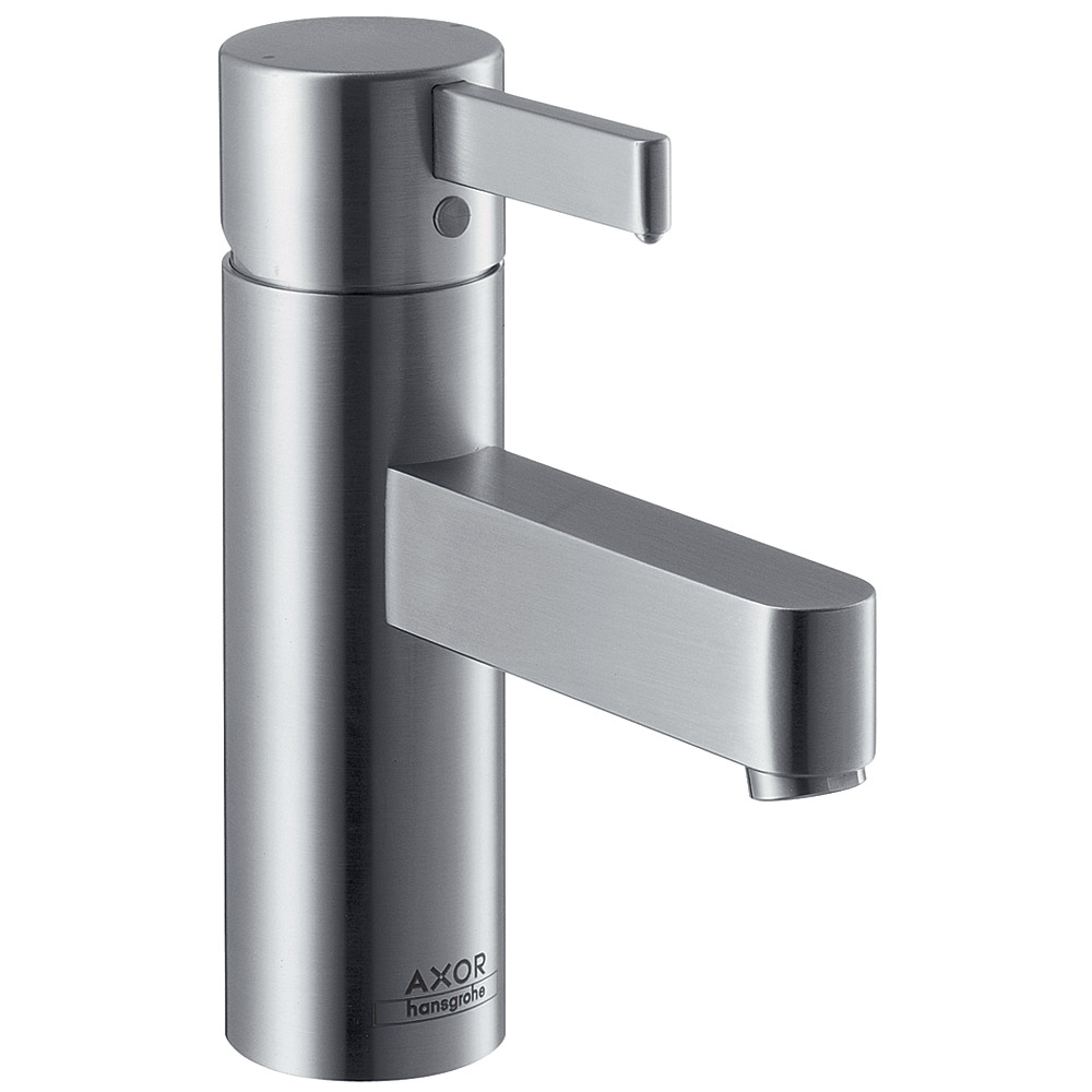 hansgrohe axor steel single hole faucet stainless steel free shipping modern bathroom. Black Bedroom Furniture Sets. Home Design Ideas