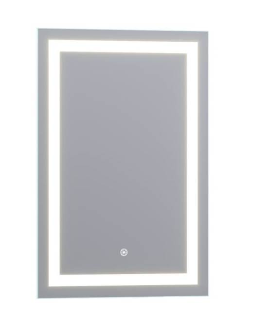 "Luxaar Lumina 24 "" x 36 "" LED Lighted Vanity Mirror with Built-In Dimmer and Anti-Fog Feature LEDSM2024"