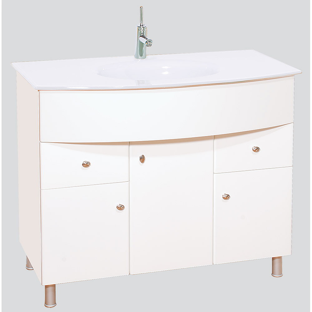 Chelsea 40 Bathroom Vanity With White Glass Countertop Free Shipping Modern Bathroom