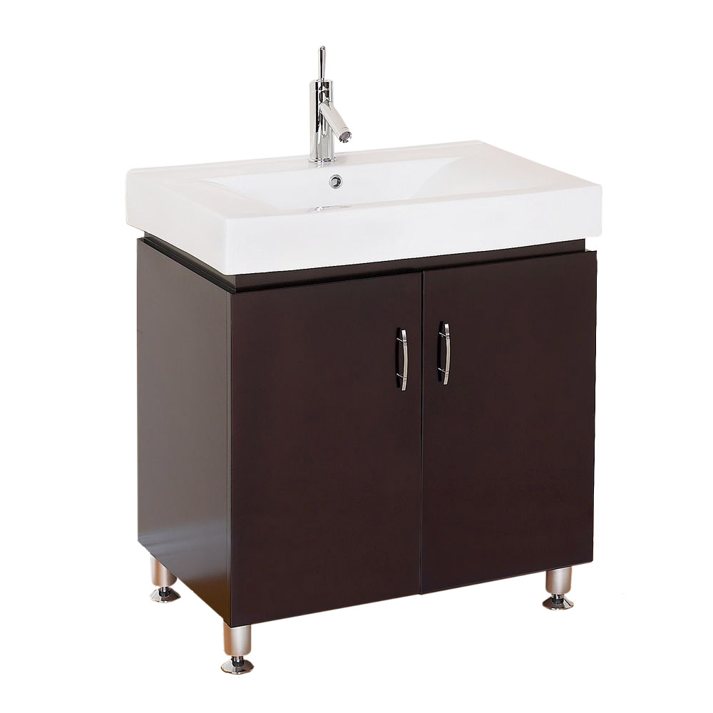 dorchester 30 modern bathroom vanity with porcelain countertop espresso free shipping