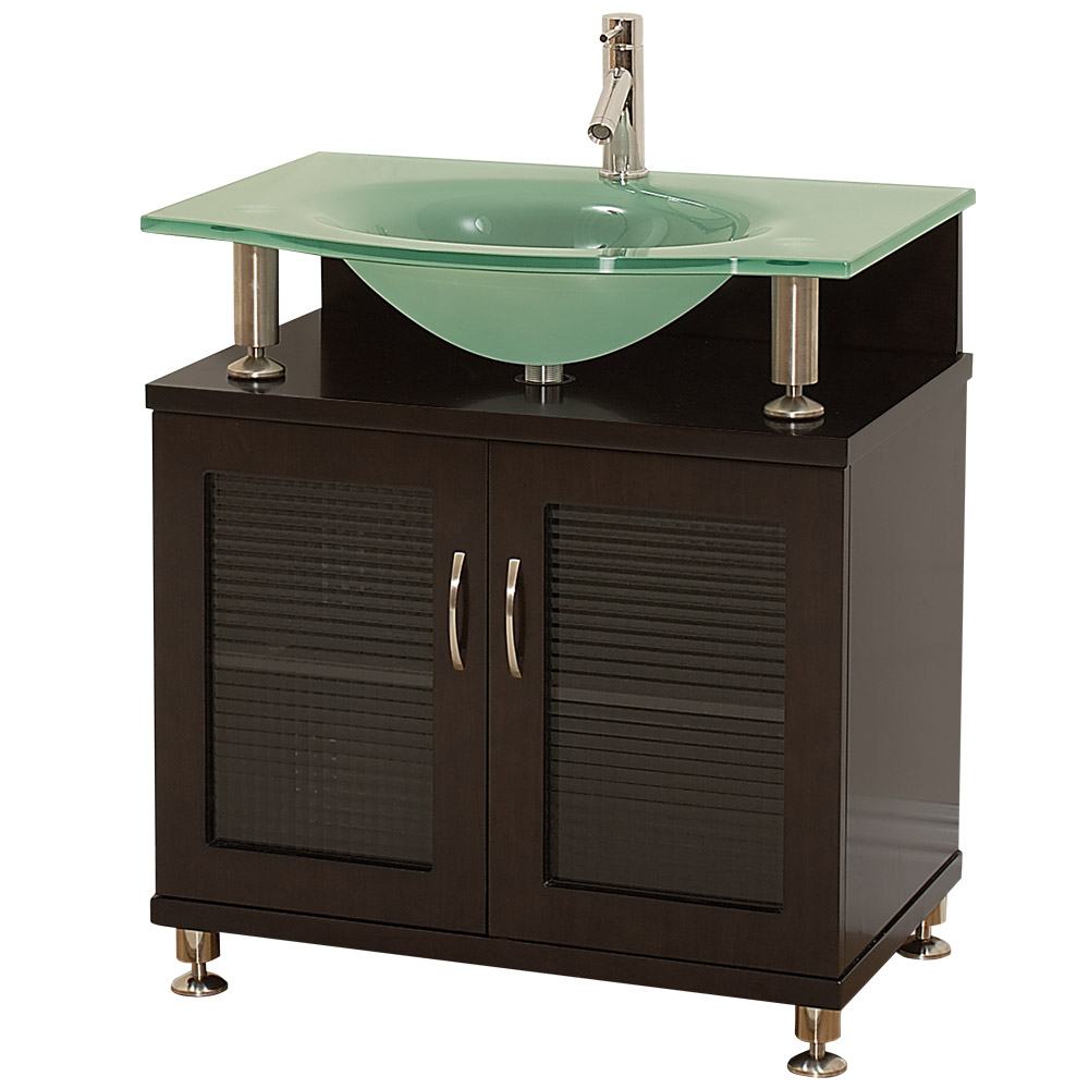 Pleasing Accara 30 Bathroom Vanity Doors Only Espresso W Clear Or Frosted Glass Countertop Home Interior And Landscaping Transignezvosmurscom