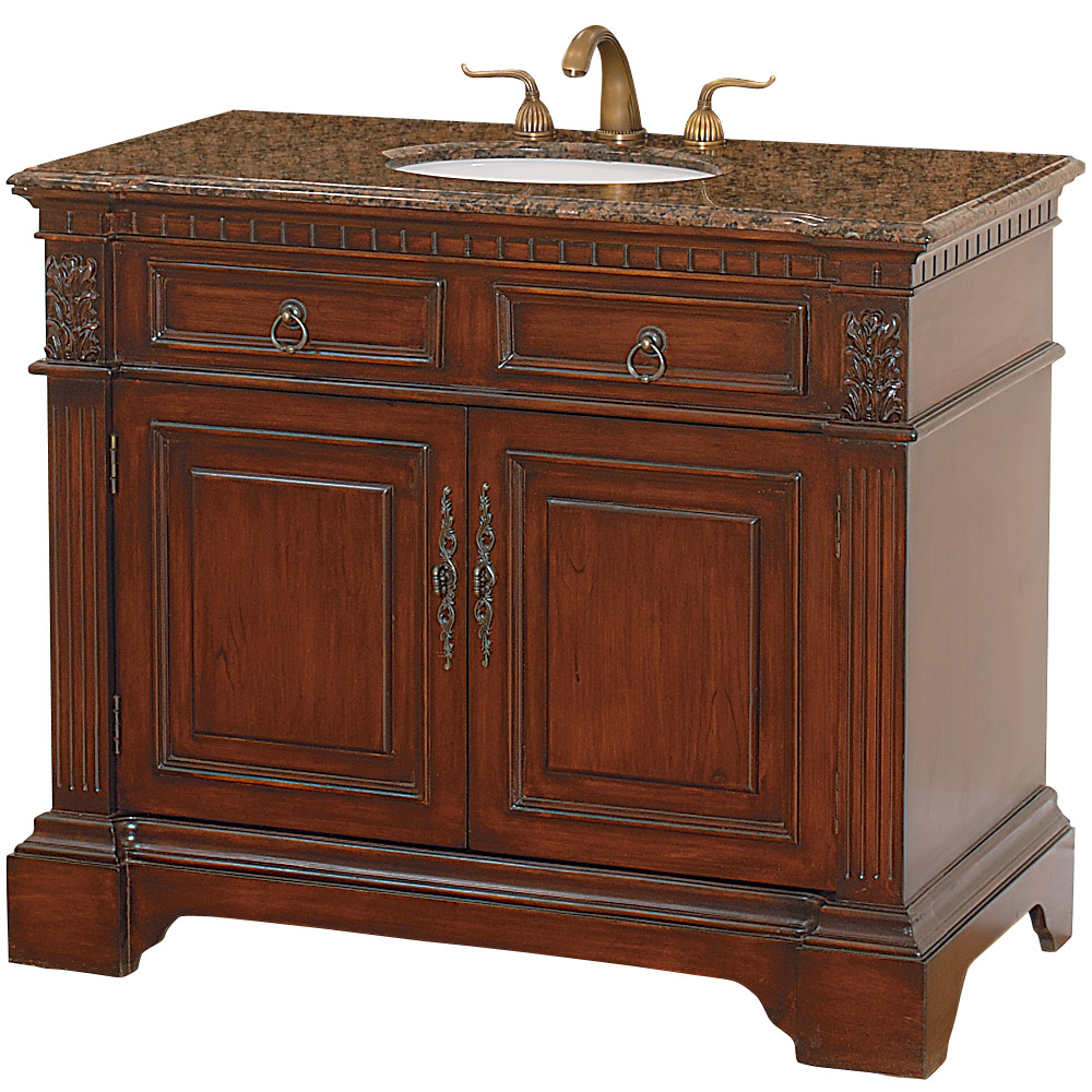 Somerset 43 Quot Traditional Wood Bathroom Vanity Cherry