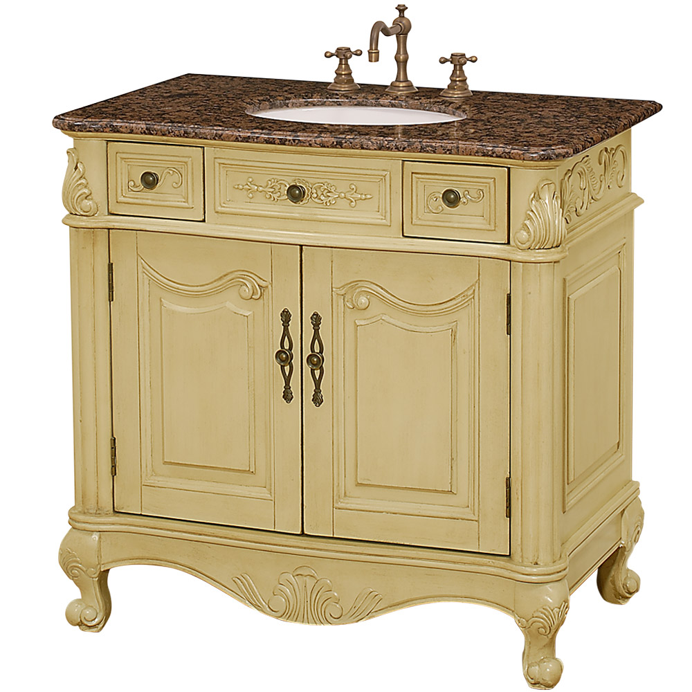 Colonia 36 Antique Bathroom Vanity Antique White Free Shipping Modern Bathroom