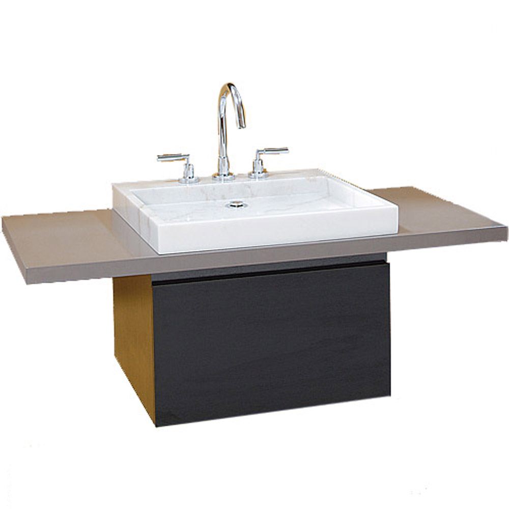 Perfecta custom single wall mounted bathroom vanity for Wall mounted bathroom countertop
