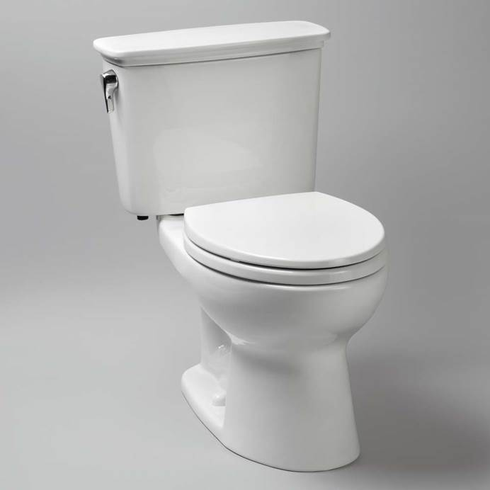 TOTO Eco Drake Transitional Two-Piece Round Toilet, 1.28 GPF CST743EN