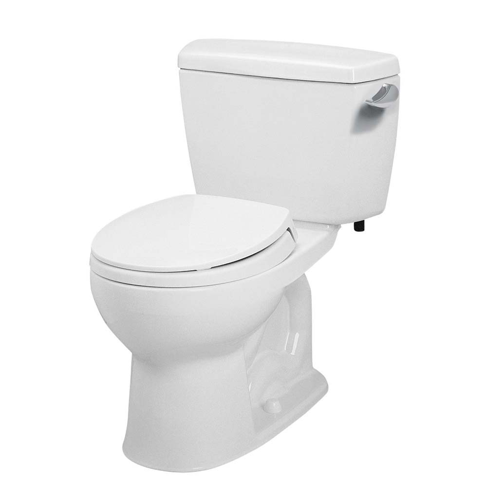 Toto Eco Drake Two-Piece Round Toilet, 1.28 GPF, Right Hand Trip Lever CST743ER by Toto
