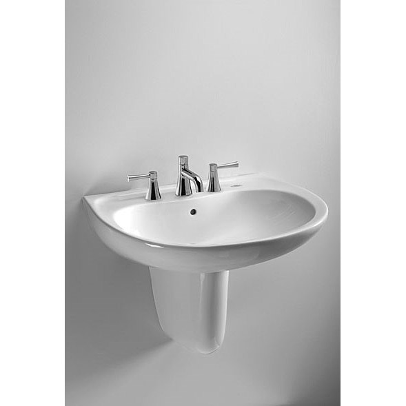 Toto Bathroom Fittings: TOTO Supreme Wall Mount Lavatory W/ CeFiONtect