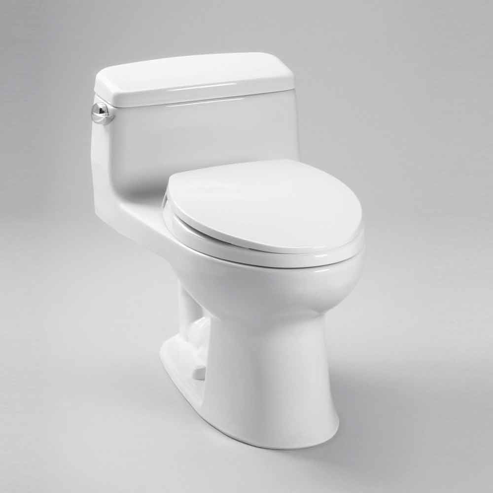 Toto Eco Supreme Transitional One-Piece Round Toilet, 1.28 GPF, SoftClose Seat Included MS863113E by Toto