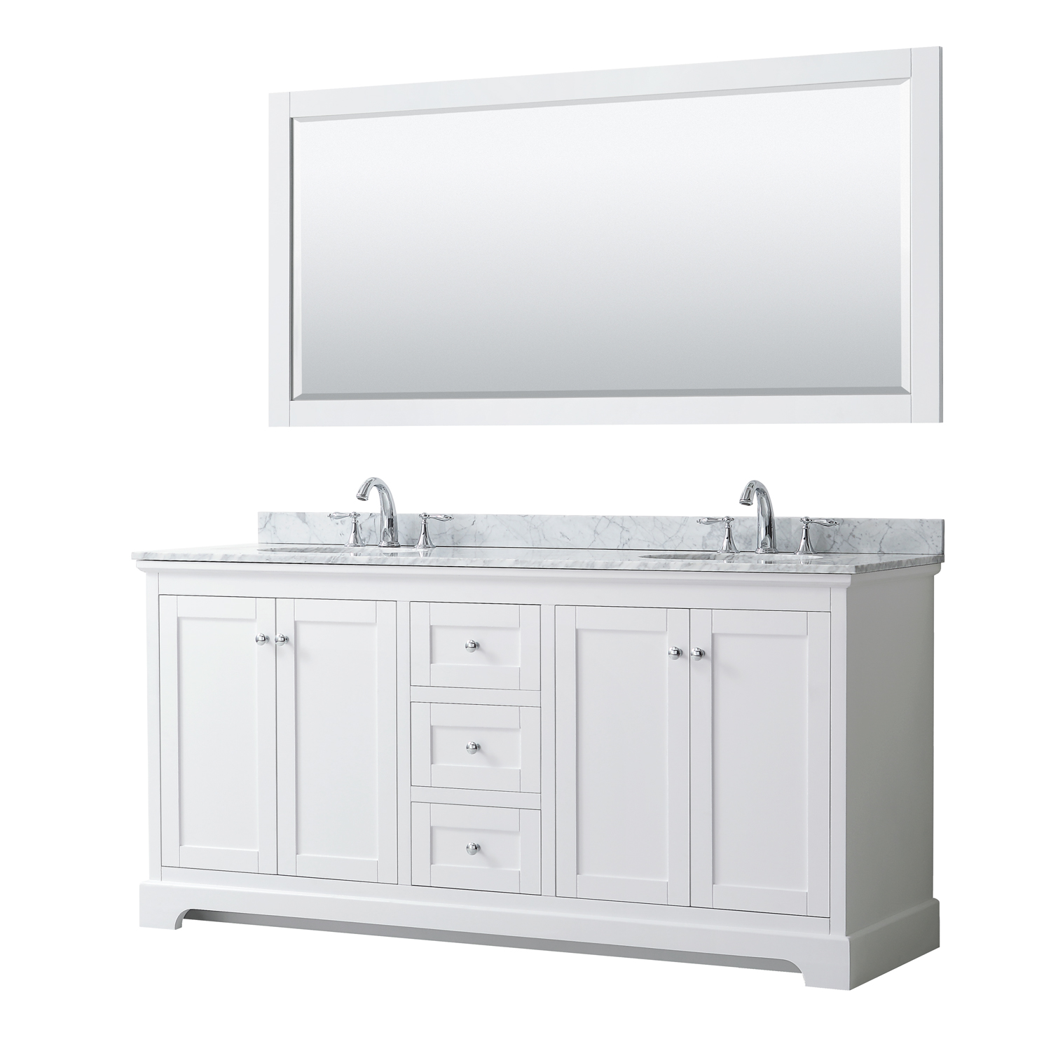 Avery 72 Double Bathroom Vanity By Wyndham Collection White Free Shipping Modern Bathroom