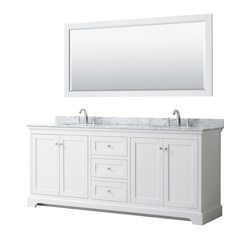 Avery 80 Double Bathroom Vanity By