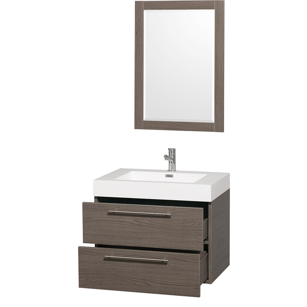 Amare 30 Quot Wall Mounted Bathroom Vanity Set With Integrated