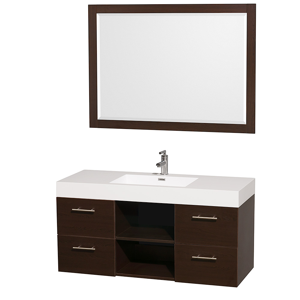 bathroom vanity cabinet sets 48 quot wall mounted bathroom vanity set with 11786