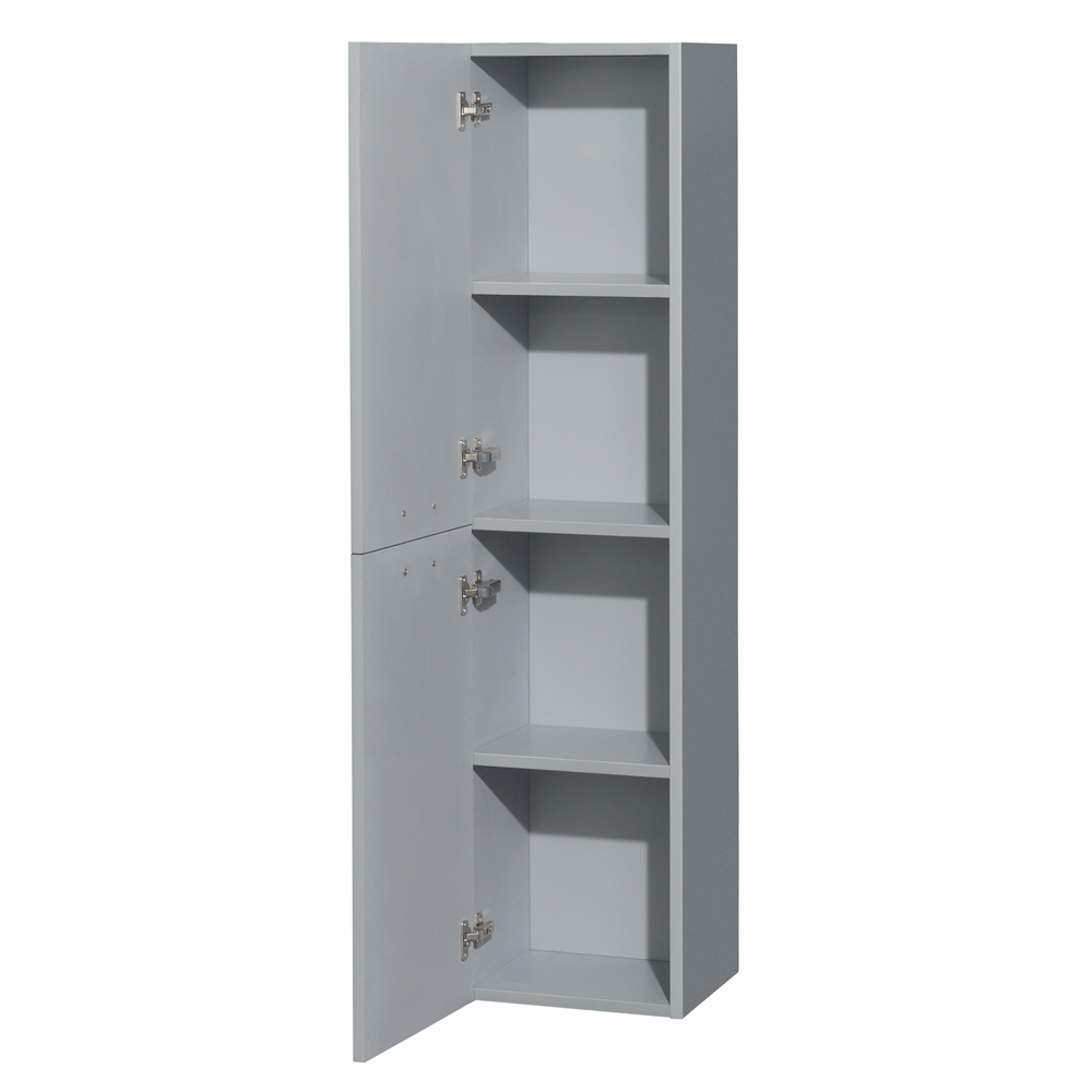 Amare wall cabinet by wyndham collection dove gray free shipping modern bathroom for Wyndham bathroom wall cabinet