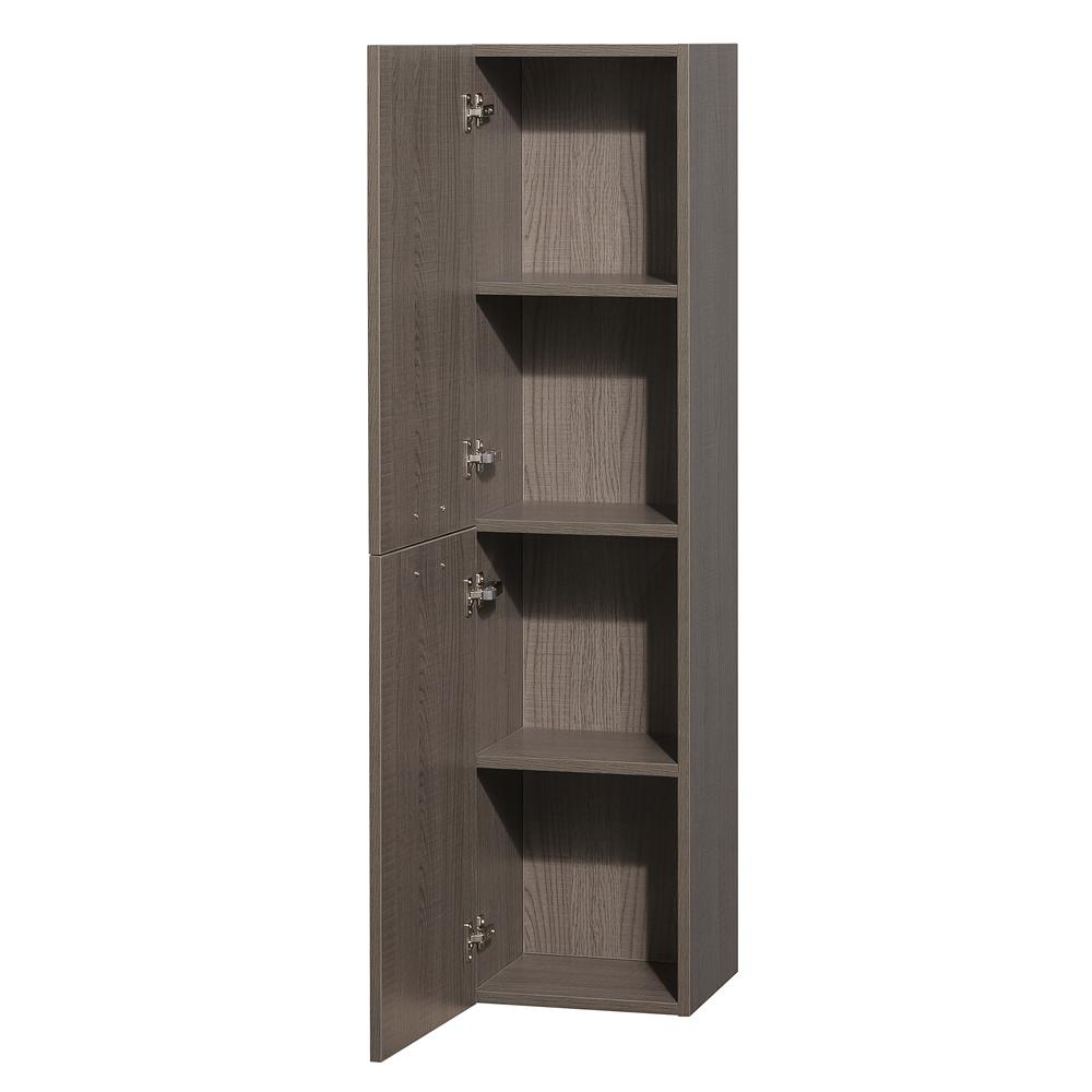 Amare wall cabinet by wyndham collection gray oak free shipping modern bathroom for Wyndham bathroom wall cabinet