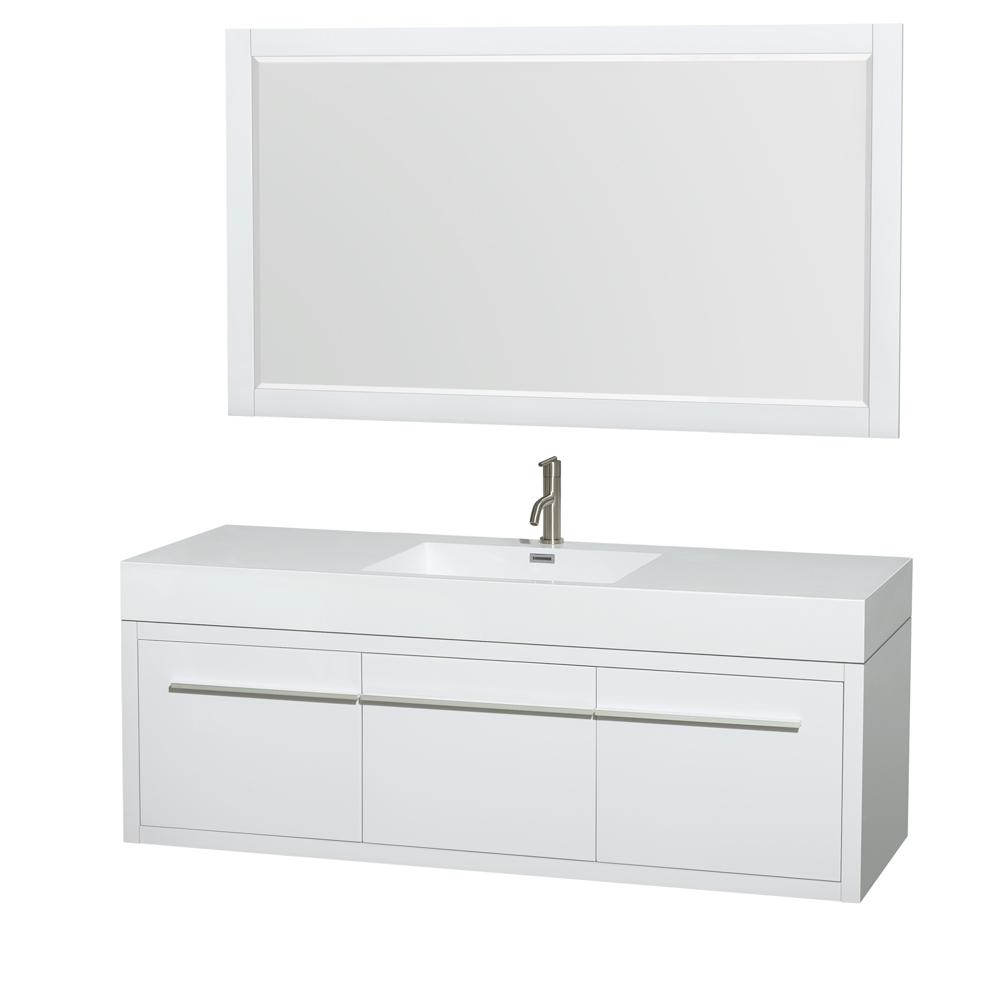 Axa 60 Quot Wall Mounted Single Bathroom Vanity Set With