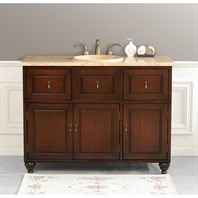 "Virtu USA Limburg 48"" Single Sink Bathroom Vanity - Antique Walnut LS-1009-T-AW"