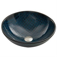 VIGO Blue Matrix Glass Vessel Sink VG07067