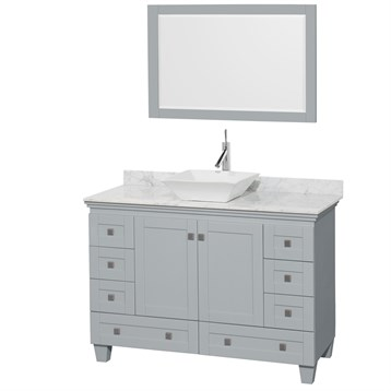 """Acclaim 48"""" Single Bathroom Vanity for Vessel Sink by Wyndham Collection, Oyster Gray WC-CG8000-48-SGL-VAN-OYS by Wyndham Collection®"""