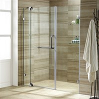 "VIGO 66-inch Frameless Shower Door 3/8"" Clear Glass VG6042-66-Frameless"