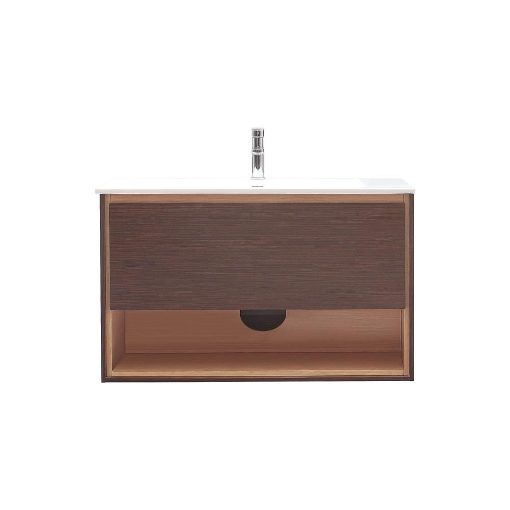 "Avanity Sonoma 39"" Wall-Mounted Single Bathroom Vanity - Iron Woodnohtin Sale $952.00 SKU: SONOMA-39-IW :"