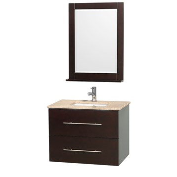 "Centra 30"" Single Bathroom Vanity for Undermount Sinks by Wyndham Collection, Espresso WC-WHE009-30-SGL-VAN-ESP- by Wyndham Collection®"