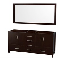 "Abingdon 72"" Double Bathroom Vanity by Wyndham Collection - Espresso WC-1515-72-ESP"