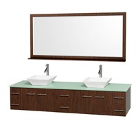 "Bianca 80"" Wall-Mounted Double Bathroom Vanity - Zebrawood WHE007-80-ZEBRA"