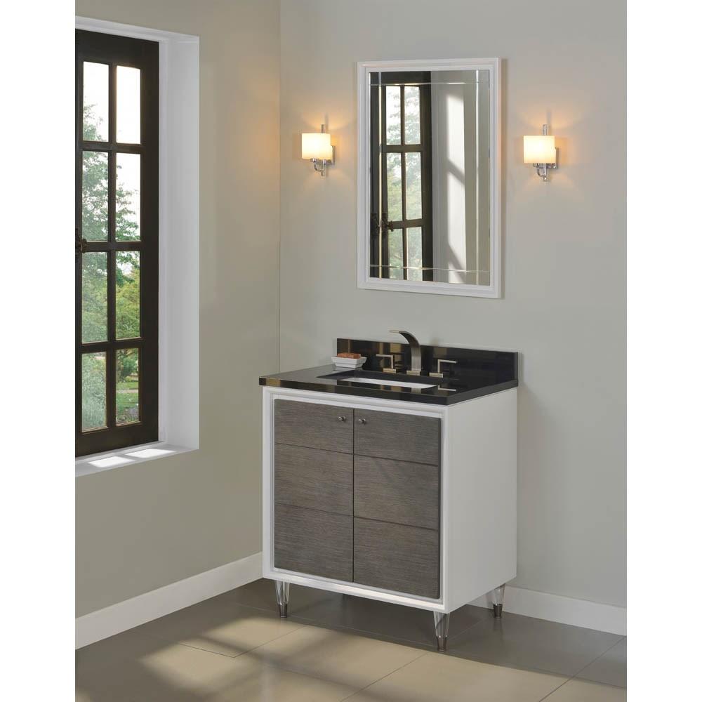 "Fairmont Designs Park Central 30"" Vanity - Glossy White / Silvered Oaknohtin Sale $1615.00 SKU: 1531-V30 :"