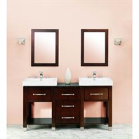 "Fairmont Designs Midtown 64"" Modular Double Open Shelf Vanity and Sink Set - Espresso 145-V2418A_DB1818_V2418A"