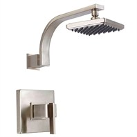 "Danze® Sirius™ Single Handle Shower Only Faucet Trim Kit with 6"" Showerhead - Brushed Nickel"