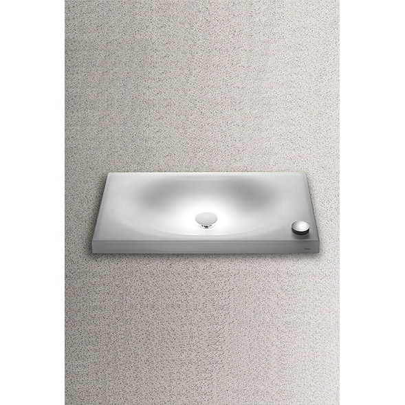 """The TOTO Neorest(R) II Vessel Lavatory with LED Lighting is the embodiment of relaxation and replenishment. The Lavatory features LED Lighting, Luminist material (a semi-clear epoxy resin), includes installation hardware and chrome drain fitting. Features & Specs AC powered LED lighting system Luminist(TM) material Angelic White finish Without overflow Installation template, hardware and chrome drain fitting included Faucet not included ADA Compliant Semi-clear epoxy resin that displays exceptional strength and is highly scratch and impact resistantThree Years Limited Warranty Dimensions Length Width Basin Depth 17 11/16"""" 29 1/2"""" 3 1/2"""" View Spec Sheet"""