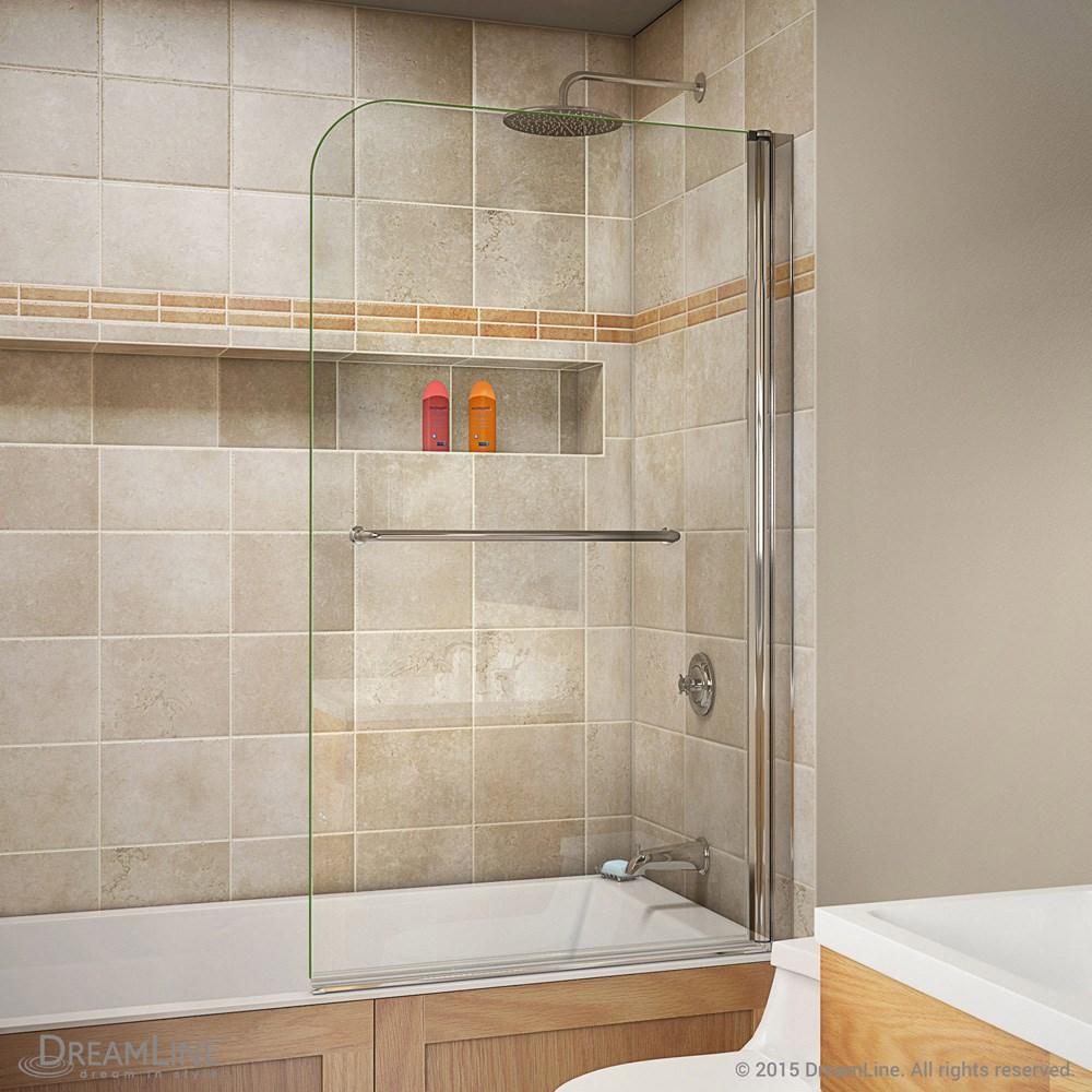 Bath Authority DreamLine AquaSwing Tub Door 34 in. W x 58 in. H ...