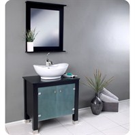 Fresca Emotivo Espresso Modern Bathroom Vanity with Mirror FVN3328ES