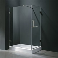 "Vigo Industries Frameless Rectangular Shower Enclosure - 36"" x 48"" VG06012-36x48"