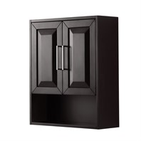 Daria Over-Toilet Wall Cabinet by Wyndham Collection - Dark Espresso WC-2525-WC-DES