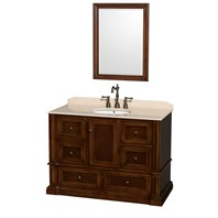 "Rochester 48"" Single Bathroom Vanity by Wyndham Collection - Cherry WC-J231-48-SGL-VAN-CHE"