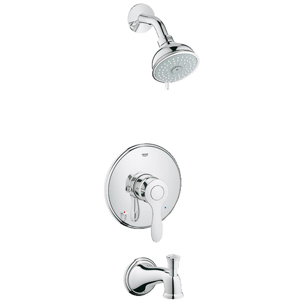 Grohe Parkfield Pressure Balance Valve Shower-Bath Combination - Starlight Chromenohtin Sale $232.99 SKU: GRO 35040000 :