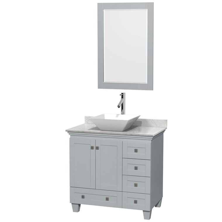 "Acclaim 36"" Single Bathroom Vanity for Vessel Sink by Wyndham Collection - Oyster Gray WC-CG8000-36-SGL-VAN-OYS"