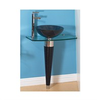 "Palma 28"" Bathroom Vanity with Glass Countertop"