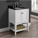 "Fairmont Designs Shaker Americana 24"" Vanity - Open Shelf - Polar White 1512-VH24_"
