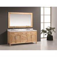 "Design Element London 72"" Double Bathroom Vanity Set - Oak DEC076B-O"