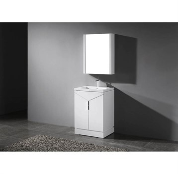 "Madeli Savona 24"" Bathroom Vanity for Integrated Basin, Glossy White B925-24-001-GW by Madeli"